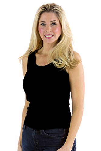 Fishers Finery Women's Essential Moisture Wicking Yoga Jersey Tank Black, - Bamboo Clothes Yoga