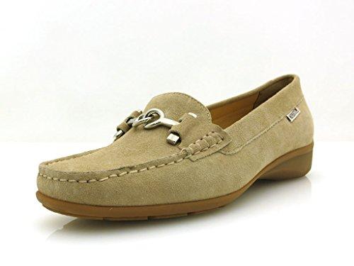 Mephisto Mokassin Ledermokassin Lederschuhe Damenschuhe Schuhe Neida Beige