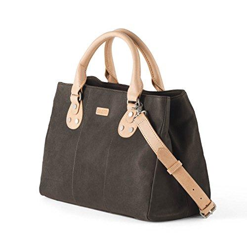 Ellington Handbags Eva Satchel - With Crossbody Strap Dark Brown