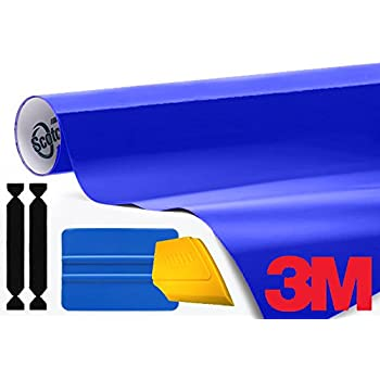 3M 1080 Gloss Cosmic Blue Air-Release Vinyl Wrap Roll Including Toolkit (1ft x 5ft)