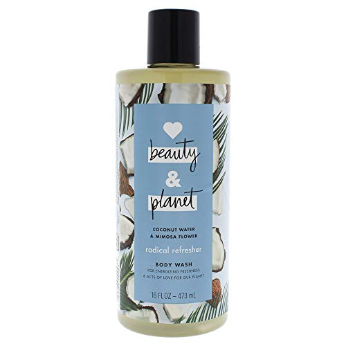 Love Beauty and Planet Radical Refresher Body Wash, Coconut Water & Mimosa Flower, 16 Ounce