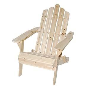 Astonica 50108138 Unfinished Folding Adirondack Chair