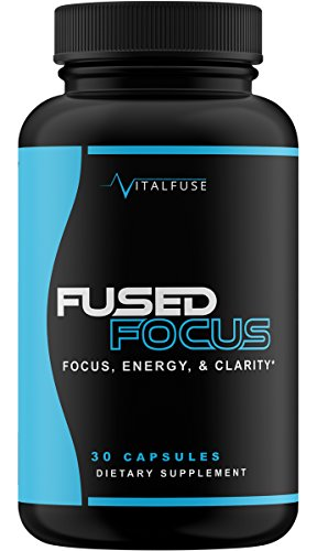 FUSED FOCUS - Premium Brain Support For Ultimate Focus, Energy, and Memory - Mental Performance Nootropic Caffeine Pills - Brain Supplement With Caffeine, Teacrine, Alpha GPC and more!