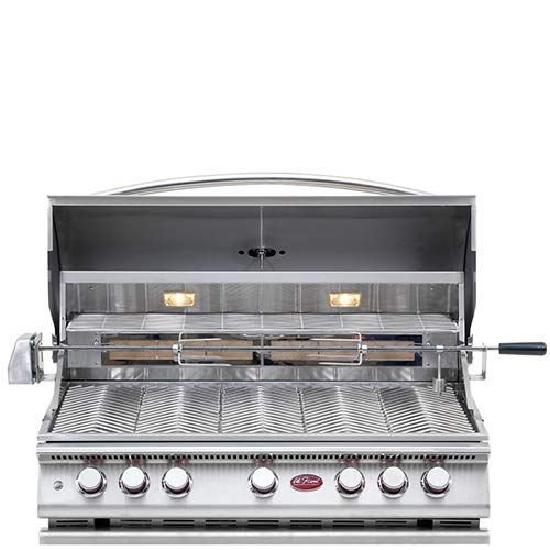 Cal Flame 089245002161 5 Burner Deluxe Grill Head W/Rotisserie, Stainless Steel ()