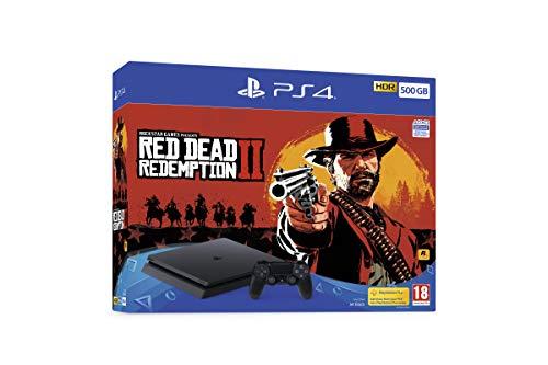 Sony PlayStation 4 500GB Consola (Black) con Red Dead Redemption 2 Bundle
