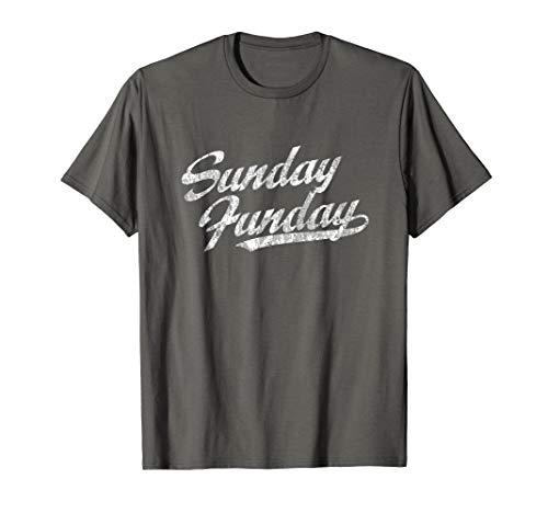 Sunday Funday T-Shirt Vintage Fun Day Sports Design - Sunday T-shirt Day Fun