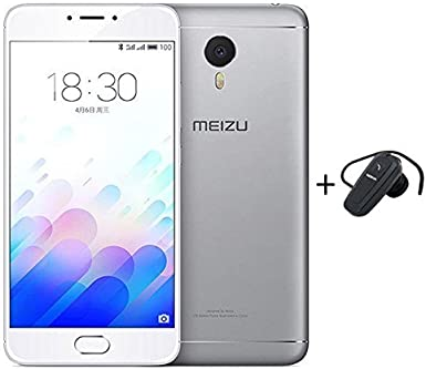 Meizu M3 Note / Note3 2GB RAM 16GB ROM Smartphone Silver + Bluetooth Earphone Combo 4G LTE Dual Sim Android 5.1 Octa Core 1.8GHz 5.5 inch FHD 5+13MP: Amazon.es: Electrónica