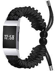 TopTen Sieraden Horloge Band Compatibel voor Fitbit Charge 3/Charge 4 Fitness Polsband, Roestvrij Stalen Armband Vervanging Accessoires Verstelbare Polsband