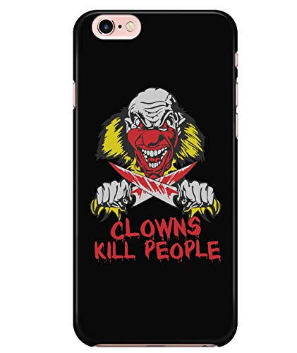 iPhone 7/7s/8 Case, Jason Halloween Horror Nights Case for Apple iPhone 7/7s/8, Clowns Kill People iPhone Case (iPhone 7/7s/8 Case - Black)]()