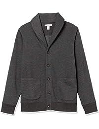 Men's Long-Sleeve Fleece Shawl-Collar Cardigan