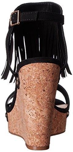 Fergalicious Vinni Damen US 8.5 Schwarz Keilabsätze Sandale
