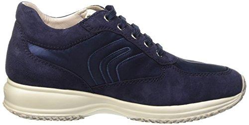Geox D Happy A, Low-Top Chaussures Femme Bleu (Navy)