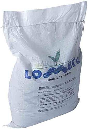 Suinga ABONO Fertilizante ORGANICO Humus DE LOMBRIZ, Saco 15 Kg - 25 litros. Apto para Agricultura ecológica