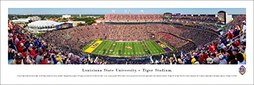 (LSU Football - 125th Anniversary - Unframed 40 x 13.5 Poster by Blakeway Panoramas)