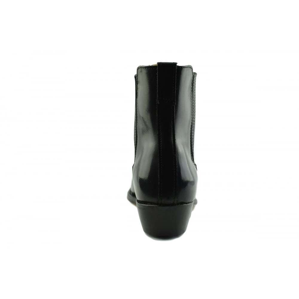 30f23e943cf Amazon.com: Loblan 298 Black High Shine Leather Cowboy Western Boots ...