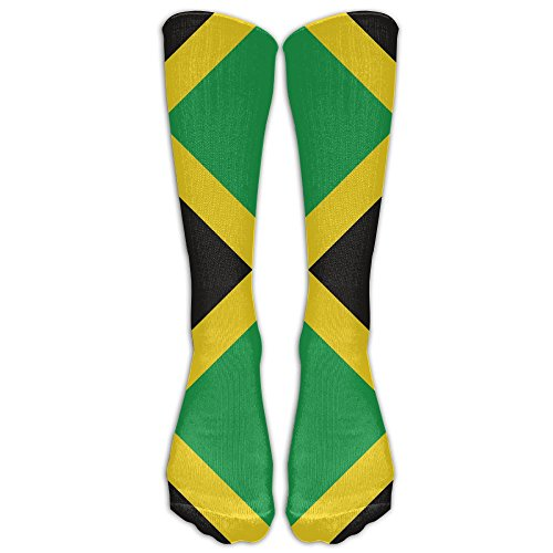 40 Thigh High Bronze - CAWHJDW Jamaican Flag Girls Crew Socks Fashion Boot Socks Gym Sports High Socks Long Socks