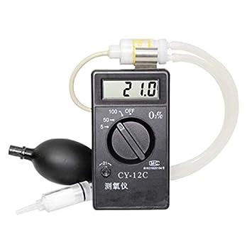ZGUO Medidor de oxígeno Medidor de concentración de oxígeno Detector de oxígeno Probador de O2 Medidor de O2 Analizador de oxígeno Digital CY-12C 0-5% 0-25% ...