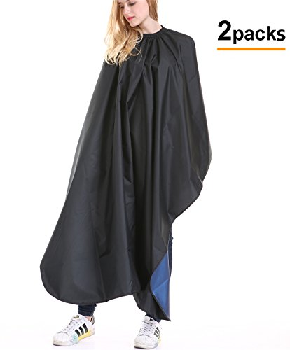 1 Or 2 Pack Profession Barber Cape - Haircut Gown Color Salon Styling Bib Barbershop Supplies Hairdresser Cutting Apron