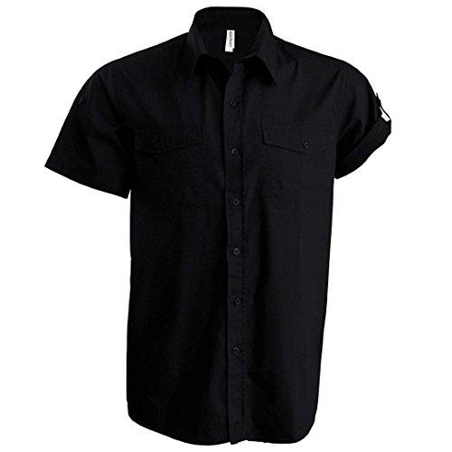 Kariban camiseta de manga corta Tropical negro