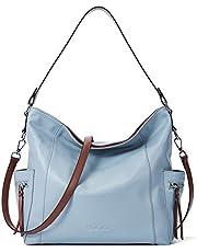 BOSTANTEN Genuine Leather Hobo Handbags Designer Shoulder Tote Purses Crossbody Large Bag for Women