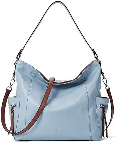 BOSTANTEN Genuine Leather Hobo Handbags Designer Shoulder Tote Purses Crossbody Large Bag for Women