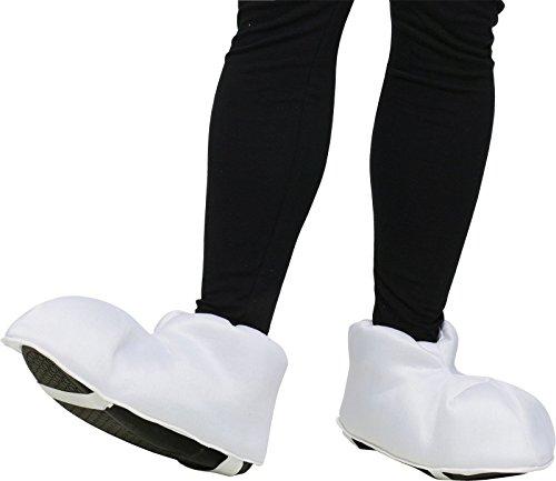 White Cartoon Feet Adult Shoe Covers