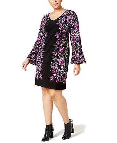 I.N.C. Plus Size Bell-Sleeve Ponté Shift Dress (3X-Large)