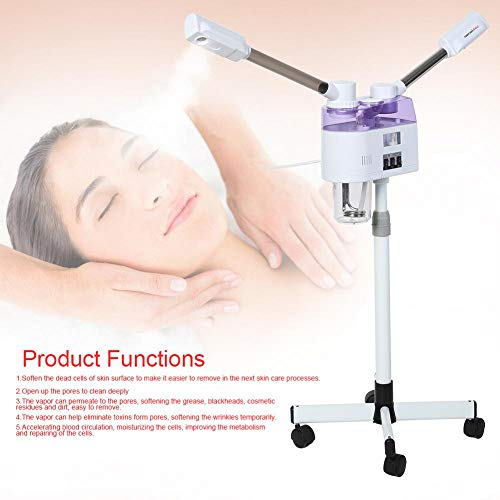 Mymgg Facial Steamer Hot and Cold Facial Skin Care Home Spa Ozone Steaming Ion Sprayer Face Skin Cleaning Beauty Anti-Aging Wrinkle (Best Moisturiser For Blackheads)