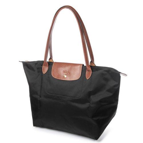 Longchamp Pliage Large Tote Bag, Sacchetto Donna Nero