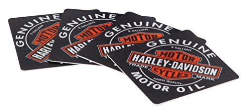 Harley-Davidson Genuine Oil Can Coasters, Includes Set of 25 HDL-18540 (Davidson Paper Harley)