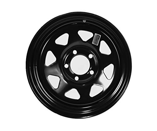 Painted Trailer Rim - GBC Motorsports 13 x 4.5 Steel Spoke Trailer Rim Black Painted 5 on 4.50 Lug, 1,660 lb Load Capacity