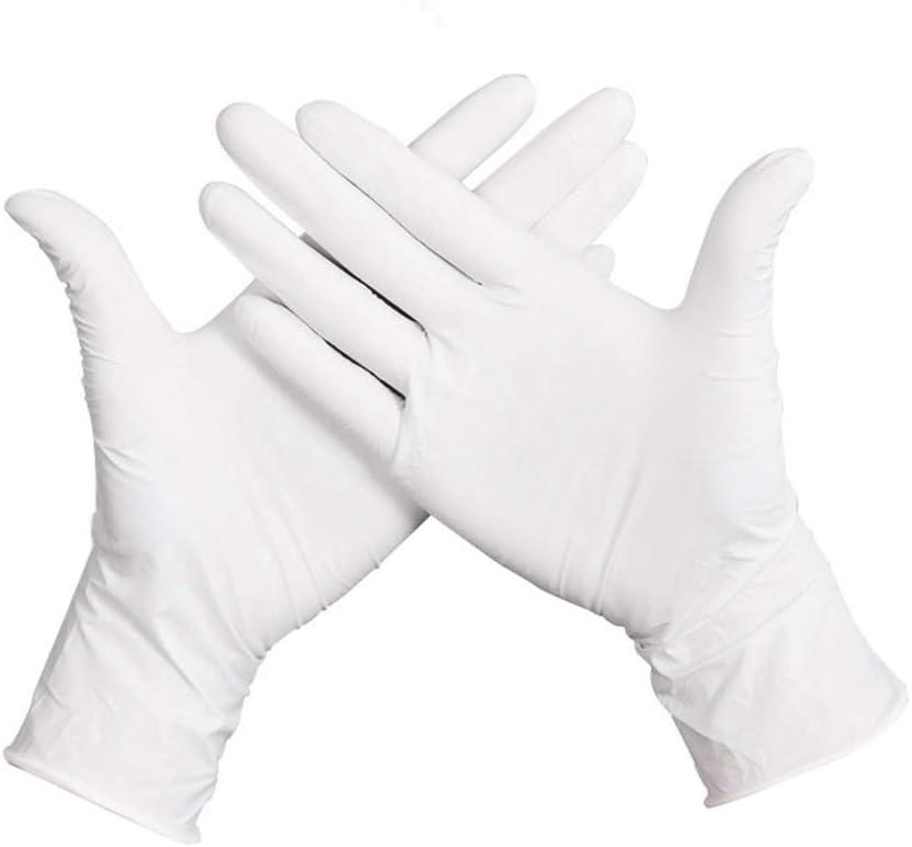 XL DRhomehouse 50 Pezzi//Guanti monouso Guanti in Lattice di Gomma Spessa Senza Polvere Spessi Grado Sicuro per Alimenti sterili per Uso Domestico in Laboratorio