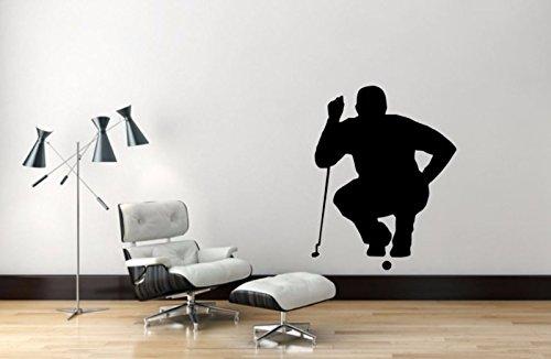"Maxx Graphixx Golf Player Wall Decal - 34"" x 27"" Golf Player Silhouette Vinyl Decal - Golf Player 11"
