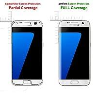 Galaxy S7 Screen Protector Glass (Full Screen Coverage), amFilm Bye-Bye-Bubble Samsung Galaxy S7 Tempered Glass Screen Protector [NOT S7 Edge] Screen Protector 2016 by TechMatte