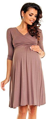 Zeta Ville Womens Maternity Dress Summer Cocktail Skater Baby Shower Dress 282c