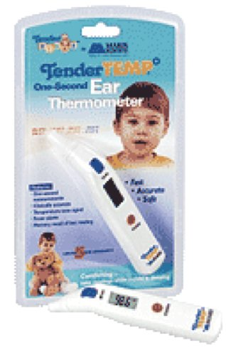 Mabis DMI Healthcare Tender Temp One-second Ear Thermometer Dual Scale, Large, Easy-to-read Display (1 Each)