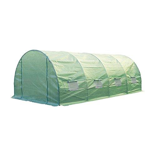 41ADeePaG2L - Outsunny 20' x 10' x 7' Portable Walk-In Garden Greenhouse - Deep Green