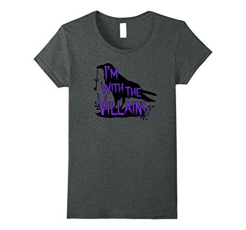 Womens I'm With The Villains T-Shirt Halloween Villain