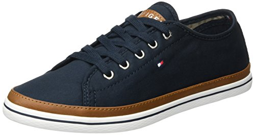 Tommy Hilfiger Women's K1285esha 6d Low-Top Sneakers, Blue (Midnight 403), 3.5 UK ()