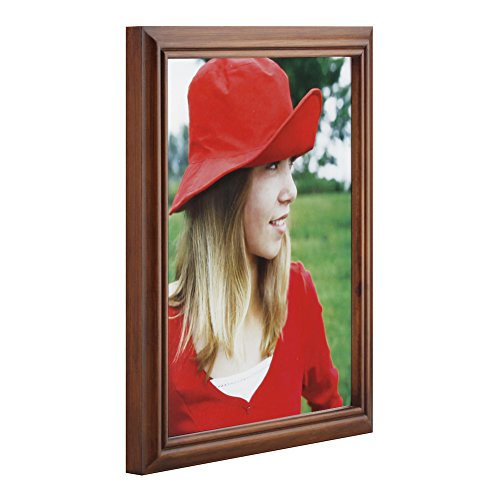 RPJC 8x10 Picture Frames Made of Solid Wood High Definition Glass for Table Top Display and Wall mounting photo frame Brown by RPJC (Image #3)
