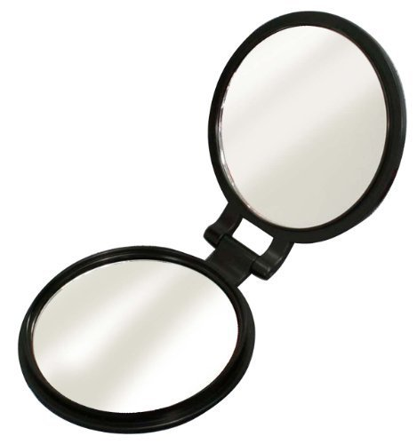 Double-sided compact mirror (10x magnifying glass with) YL-10 by - Glasses Perth
