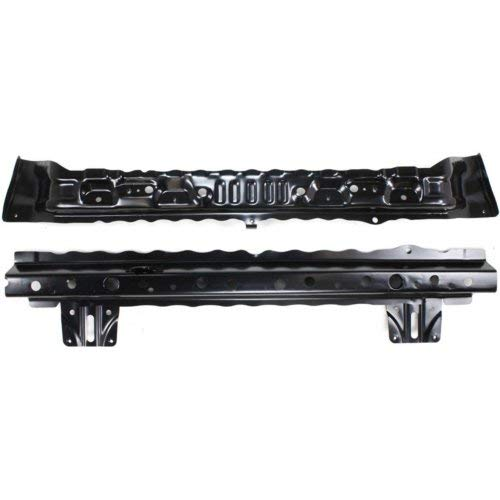 (Radiator Support Set of 2 Compatible with SUBARU Legacy 2005-2009 Lower Inner and Outer Tie Bar Assembly Black Steel)