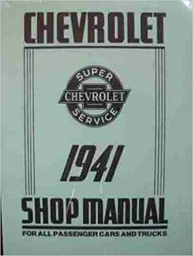 CHEVROLET 1941 Truck Owner/'s Manual 41 Chevy Pick Up