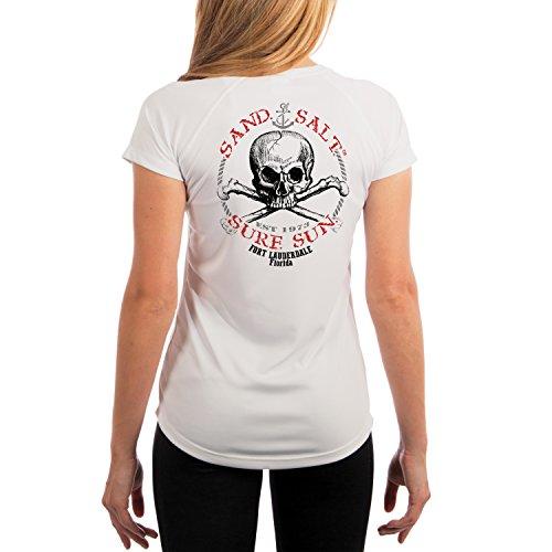 Fort Lauderdale Skull Women's UPF 50+ Short Sleeve T-Shirt XX-Large - Women Lauderdale Fort