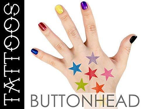 Amazoncom Rainbow Star Temporary Tattoos Rainbow Halloween