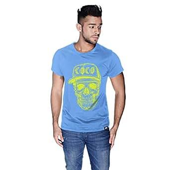 Creo Yellow Coco Skull T-Shirt For Men - Xl, Blue