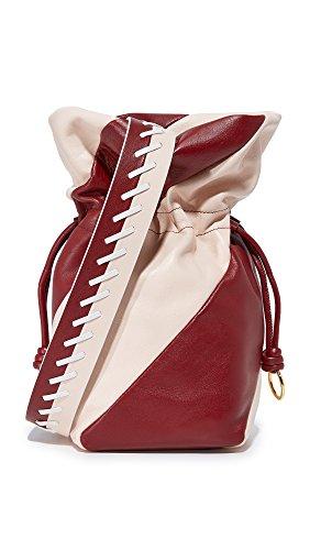 Diane von Furstenberg Women's Evening Drawstring Bag, Red Wine/Petal, One Size
