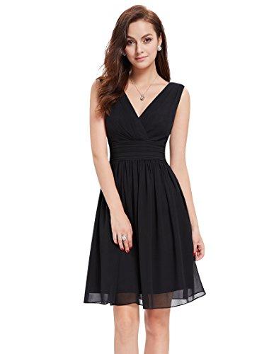 Ever-Pretty HE03989WH10 - Vestido para mujer Negro