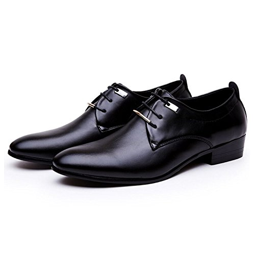 JINGJING Men's Pointed Toe Lace up Formal Oxfords Business Casual Wedding Dress Shoes by JINGJING (Image #3)
