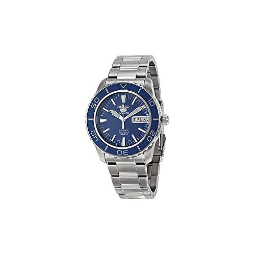 Seiko 5 Sports SNZH53J1 Japan Men's Stainless Steel Blue Dial Automatic Watch ()